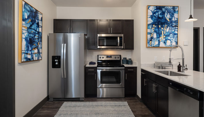Gourmet Kitchens with Stainless Steel Appliances