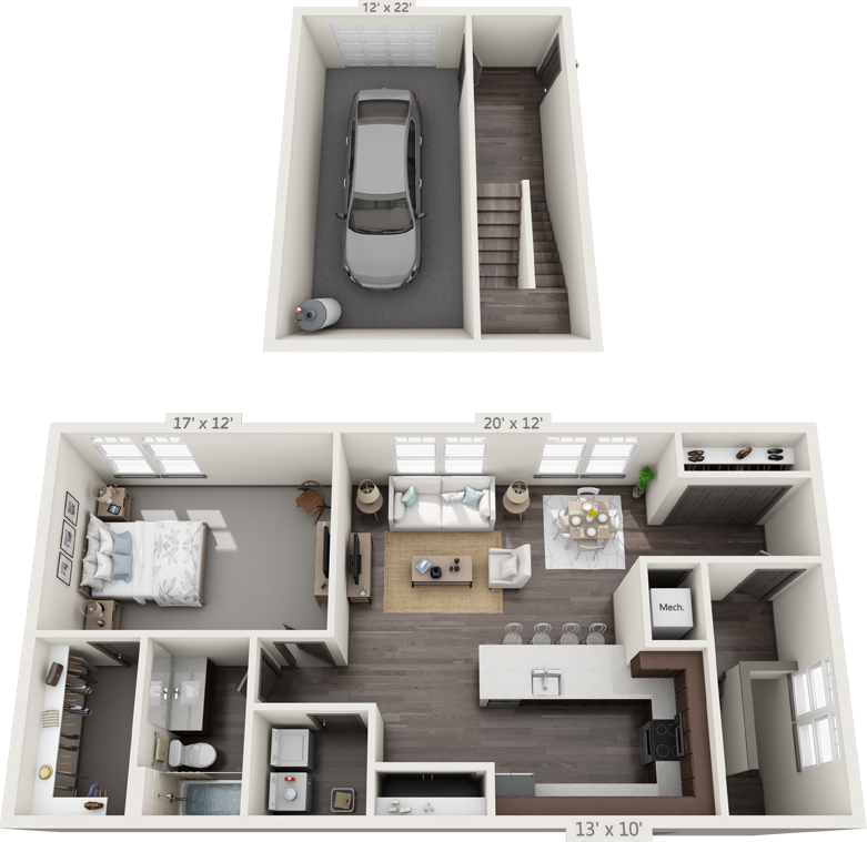 1C Floorplan