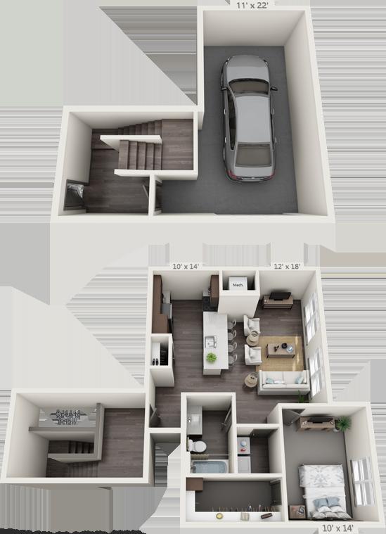 1G Floorplan