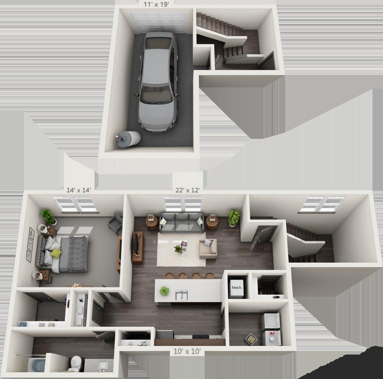 1H Floorplan