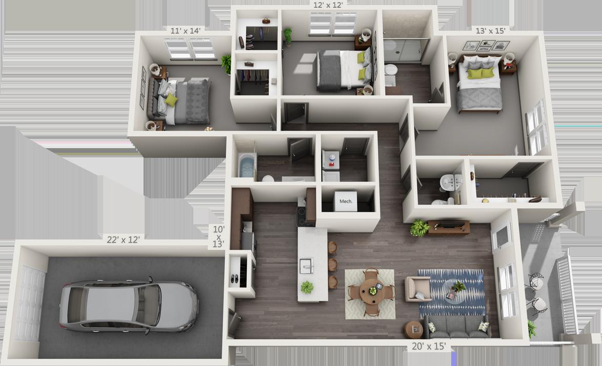 3A Floorplan